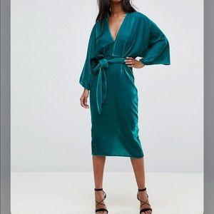Asos turquoise blue midi dress